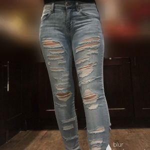 AMERICAN EAGLE ripped jeans blue 2REGULAR